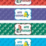 Binge Crafter: Free Little Mermaid Printable Water Bottle Labels   Free Printable Little Mermaid Water Bottle Labels