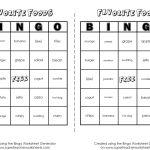 Bingo Game Worksheet Generator   Math Bingo Free Printable