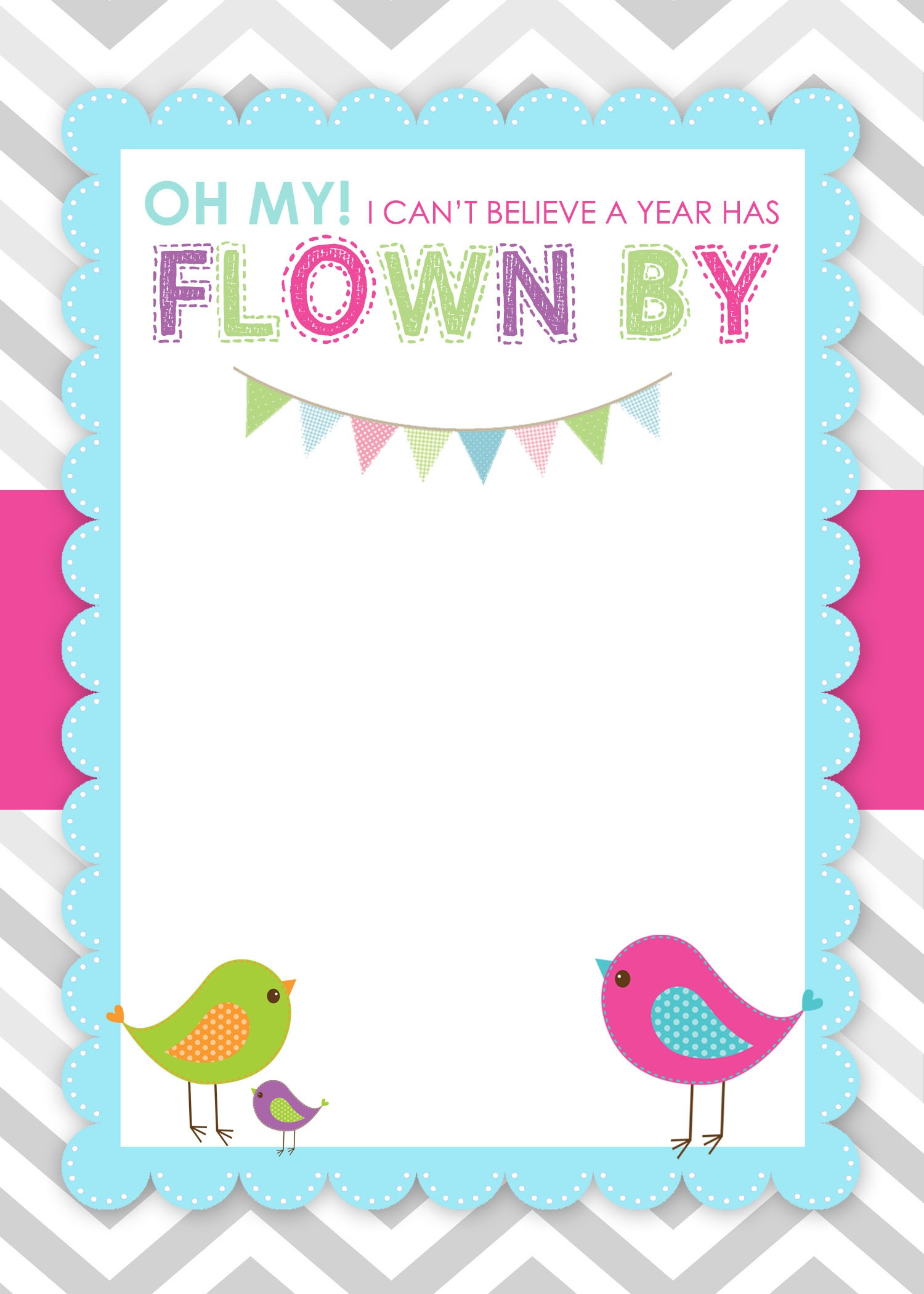 Bird Birthday Party With Free Printables - How To Nest For Less™ - Free Printable Water Birthday Party Invitations