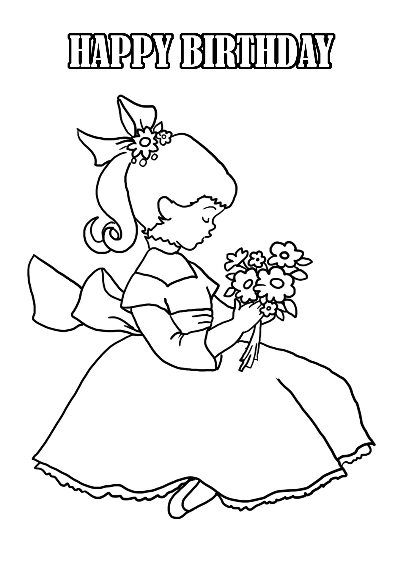 Birthday Coloring Pages - Free Printable Good Touch Bad Touch Coloring Book