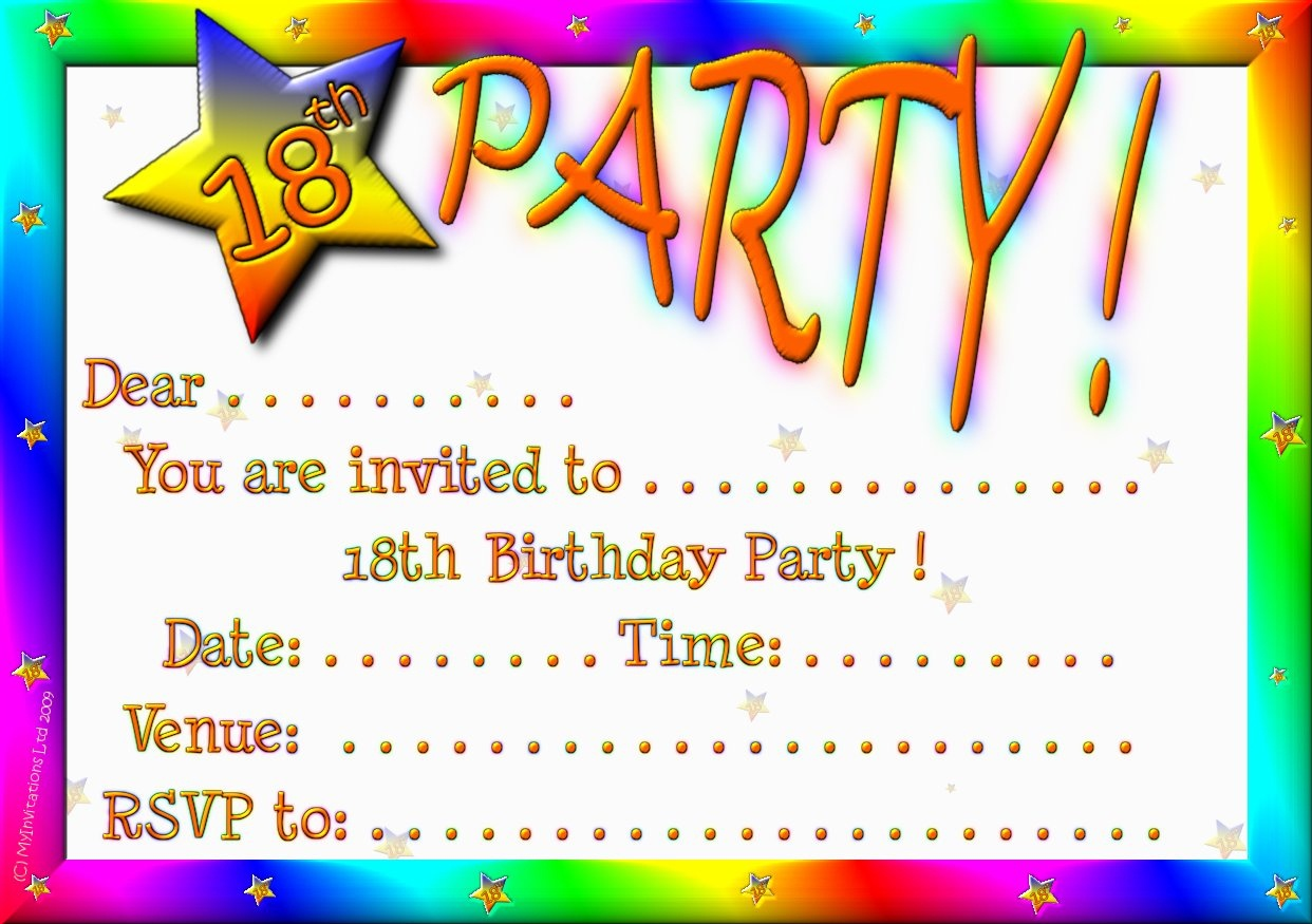 Birthday Invitation Card Maker Free Printable — Birthday Invitation - Invitation Creator Free Printable