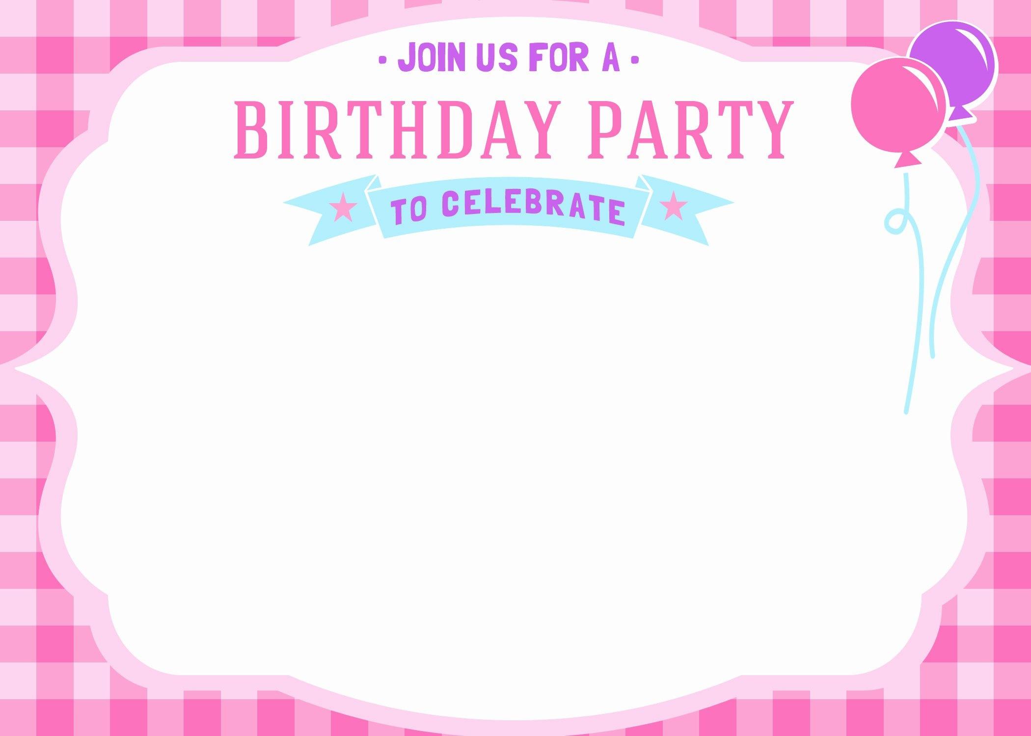 Birthday Invitation Template Printable | Artolahti Template Design - Free Printable Girl Birthday Invitations