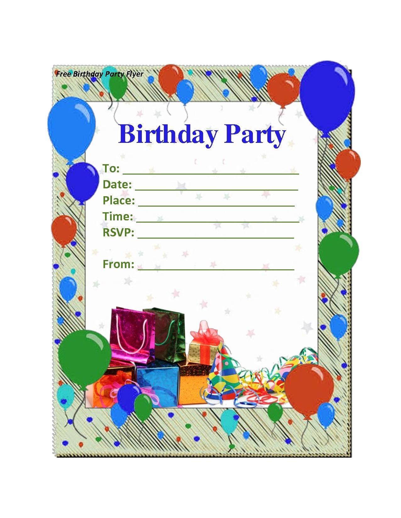 Birthday Party Invitation Maker Free — Birthday Invitation Examples - Invitation Creator Free Printable