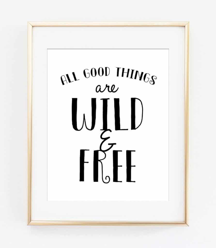 Black And White Free Printable Wall Art - Free Printable Artwork