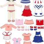 Black Haired Girl Child Paper Doll With Clothing Set From Dress Up   Free Printable Dress Up Paper Dolls
