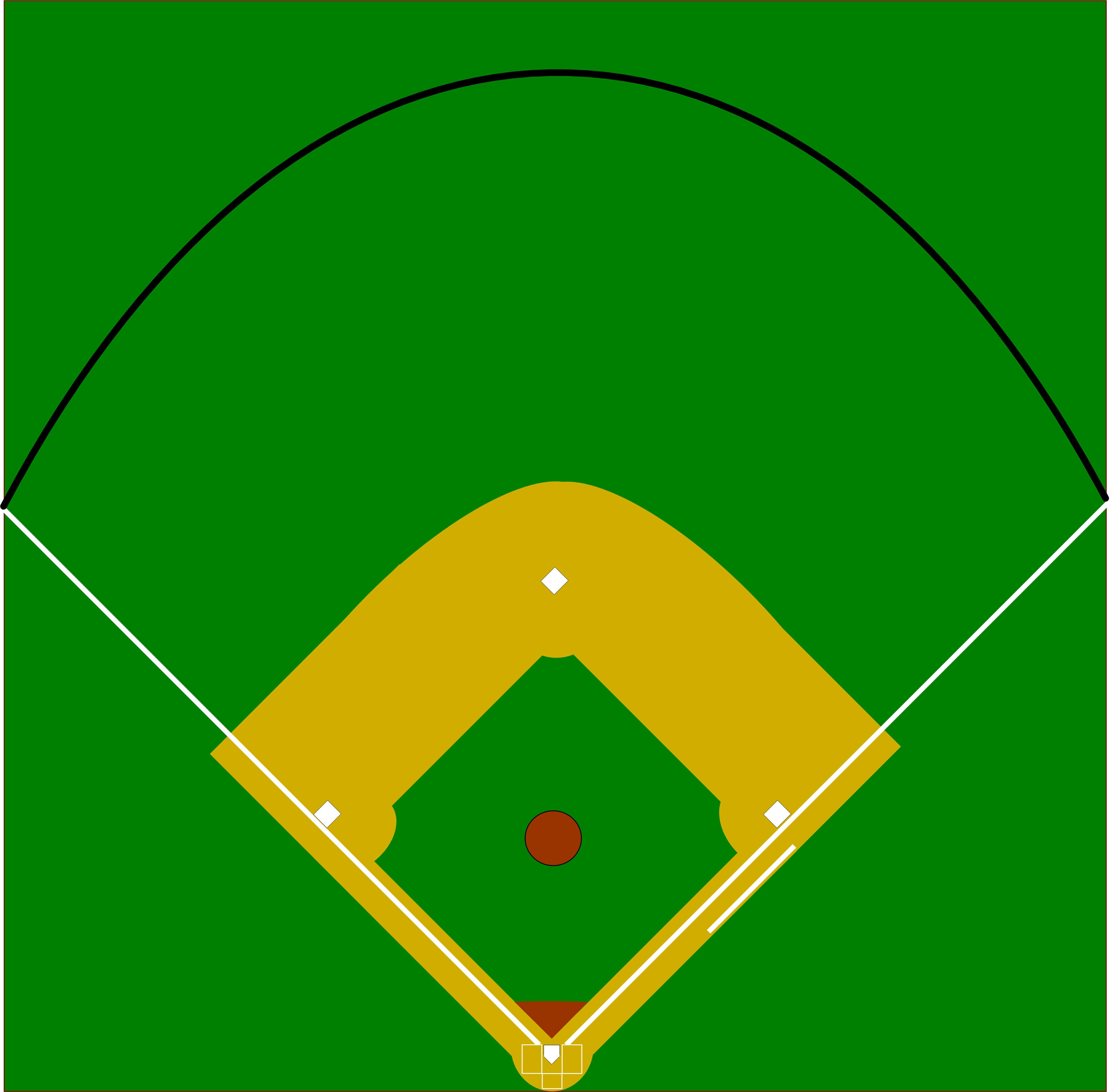 Blank Baseball Field Diagram Group With 75+ Items - Free Printable Baseball Field Diagram