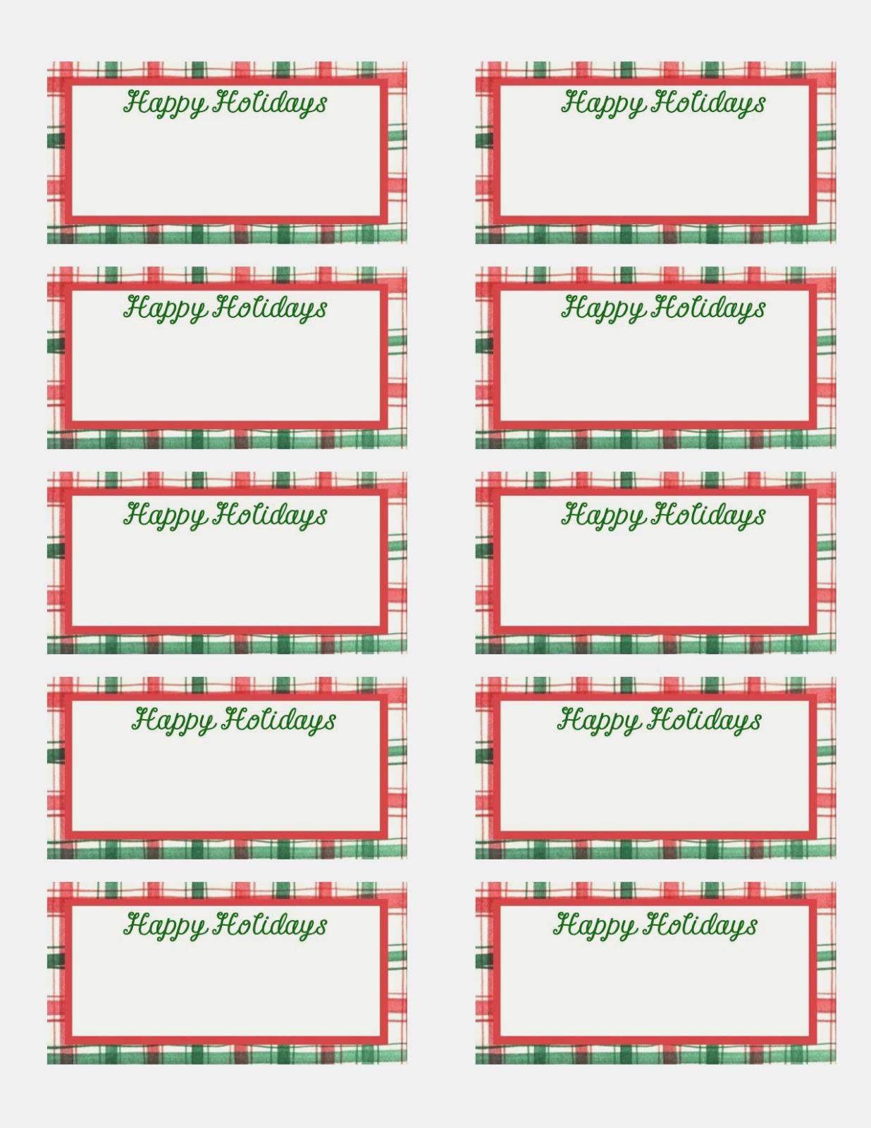 Blank Christmas Labels New Free Printable Editable Christmas T Tags - Free Printable Holiday Labels