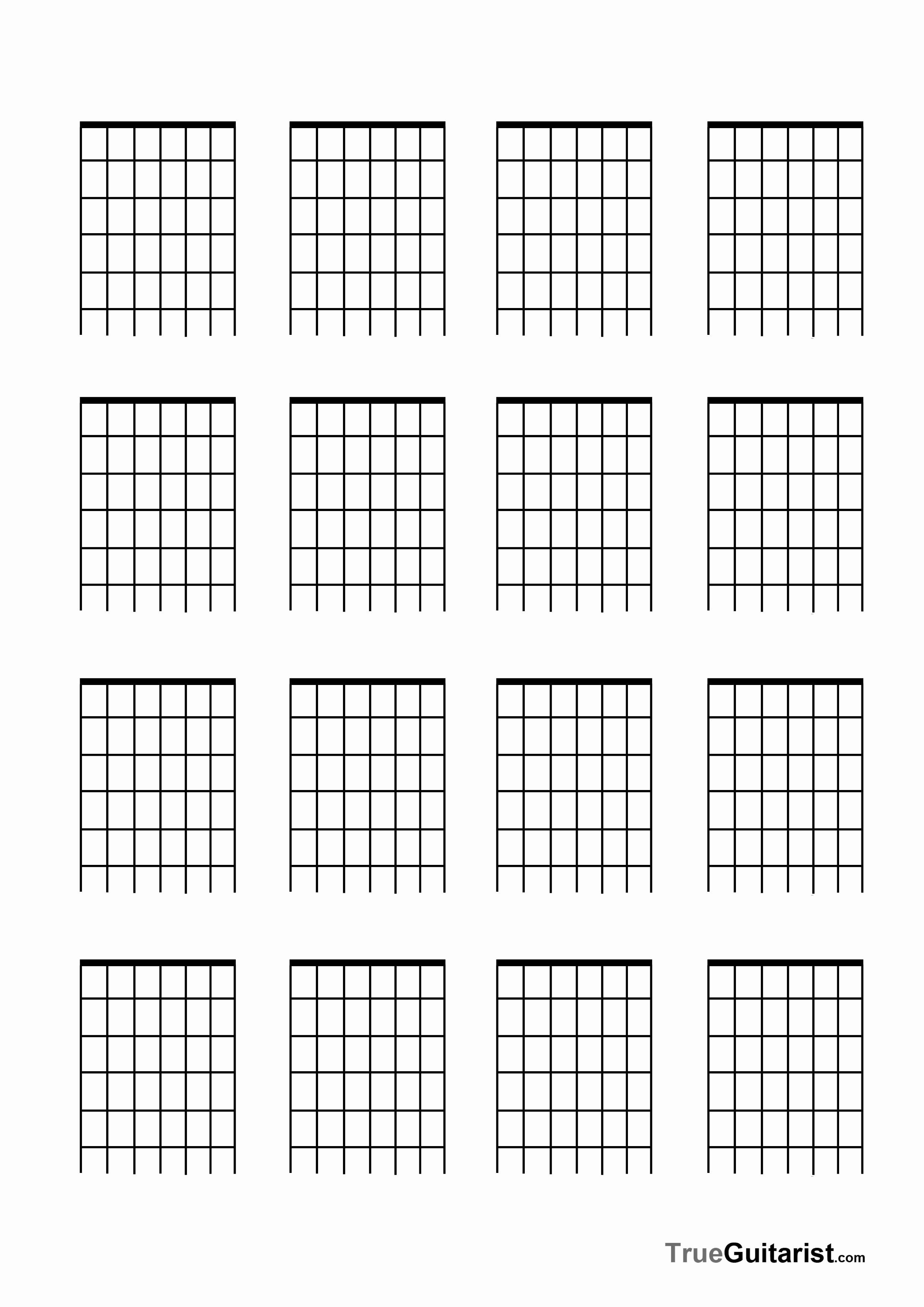 Blank Guitar Chord Chart | Accomplice Music - Free Printable Blank Guitar Chord Charts