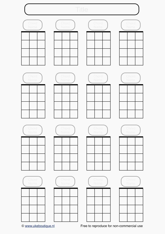 Blank Guitar Chord Chart | Tubidportal - Free Printable Blank Guitar Chord Charts