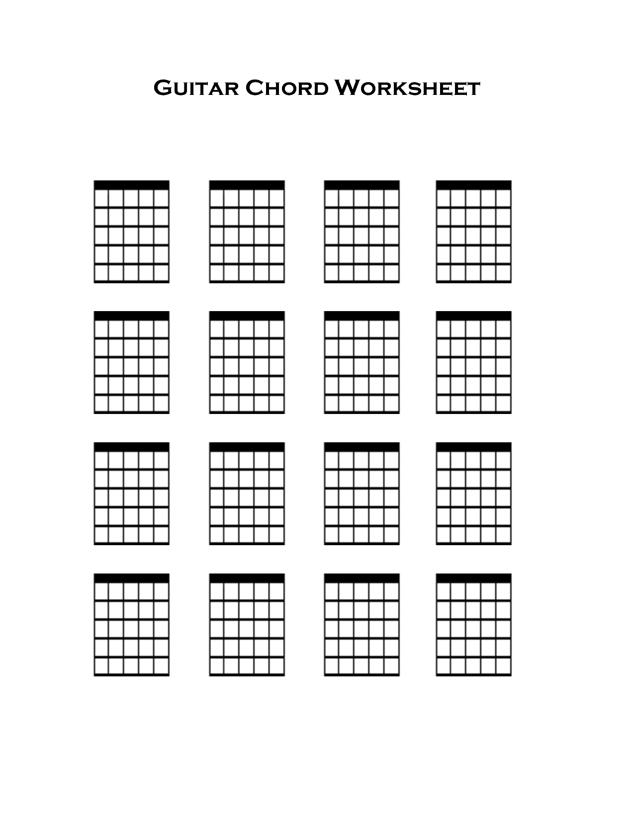 Blank Guitar Tab Sheets - Google Search | Music In 2019 | Guitar - Free Printable Blank Guitar Chord Charts