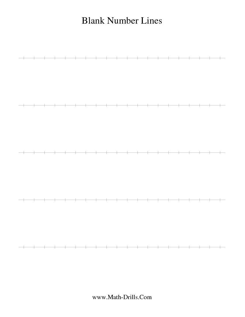 Blank Number Line | Math Interventionist | Math Drills, Line Math - Free Printable Number Line Worksheets
