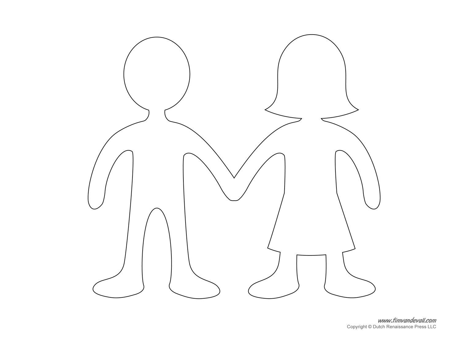 Blank Paper Doll Templates | Special Crafts | Paper Doll Template - Free Printable Person Template