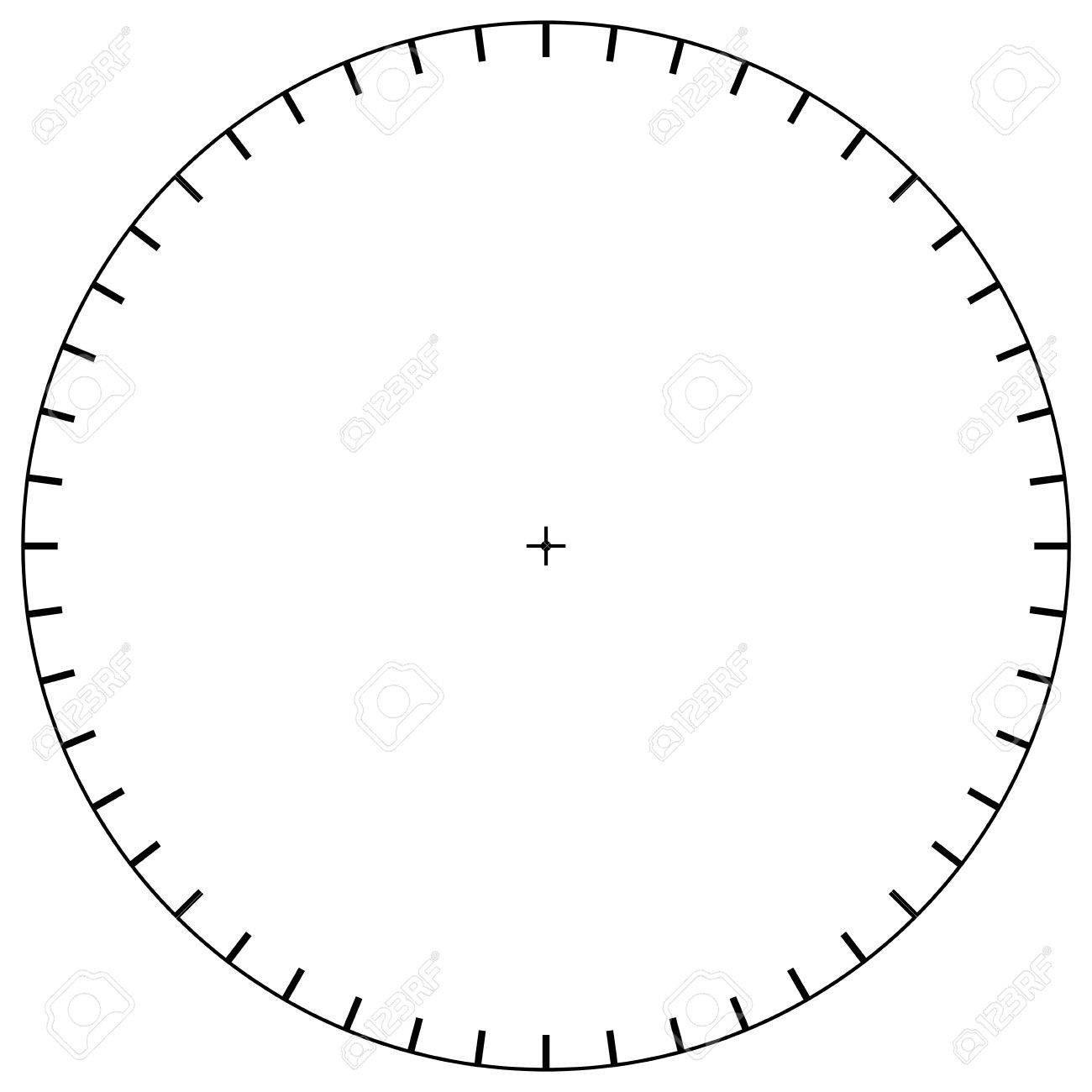 Blank Polar Graph Paper – Protractor – Pie Chart Vector Royalty Free - Free Printable Pie Chart