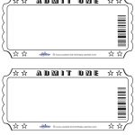 Blank Printable Admit One Invitations Coolest Free Printables   Free Printable Movie Ticket Birthday Party Invitations
