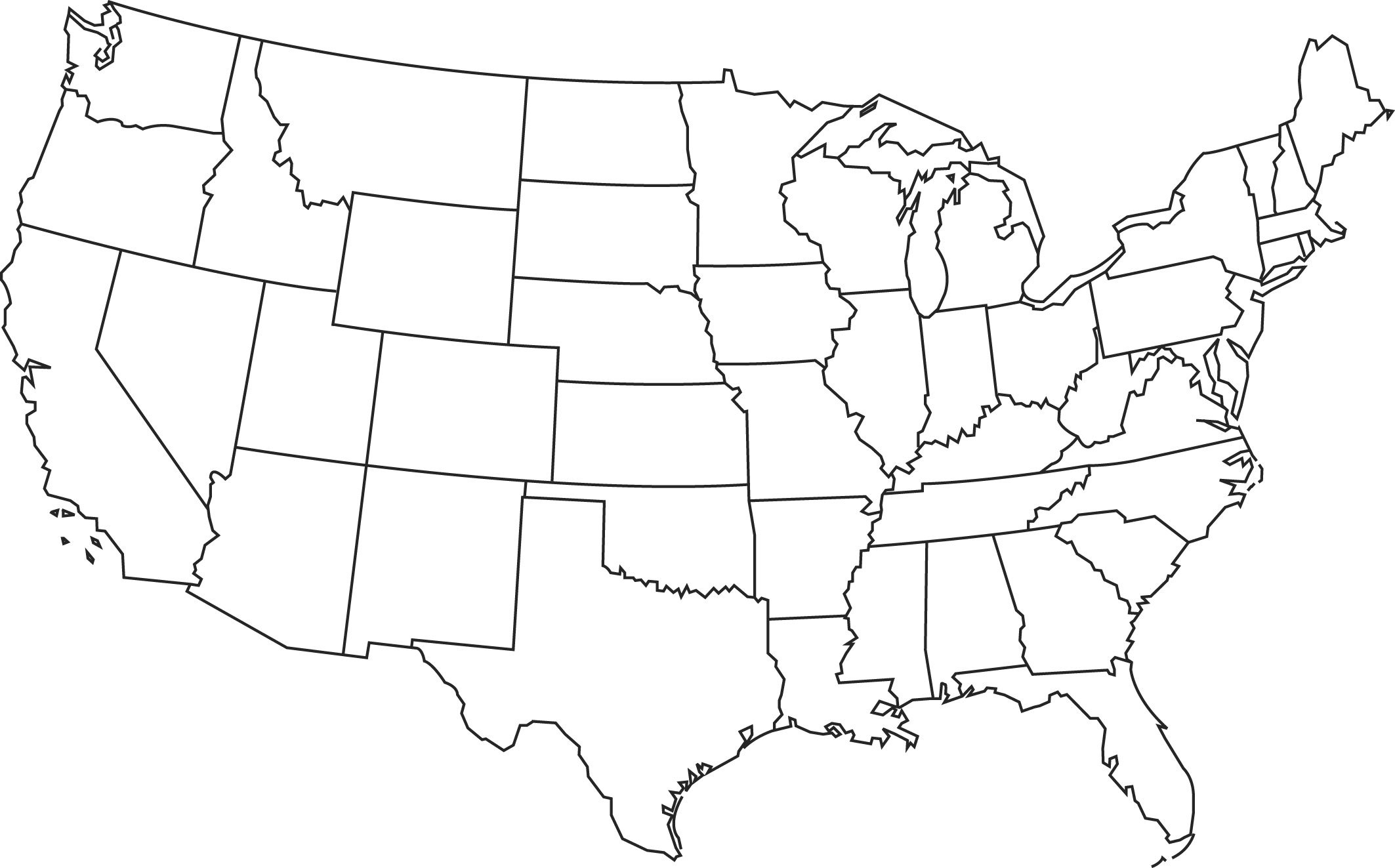 Blank Printable Map Of The Us Clipart Best Clipart Best | Centers - Free Printable Blank Map Of The United States Of America