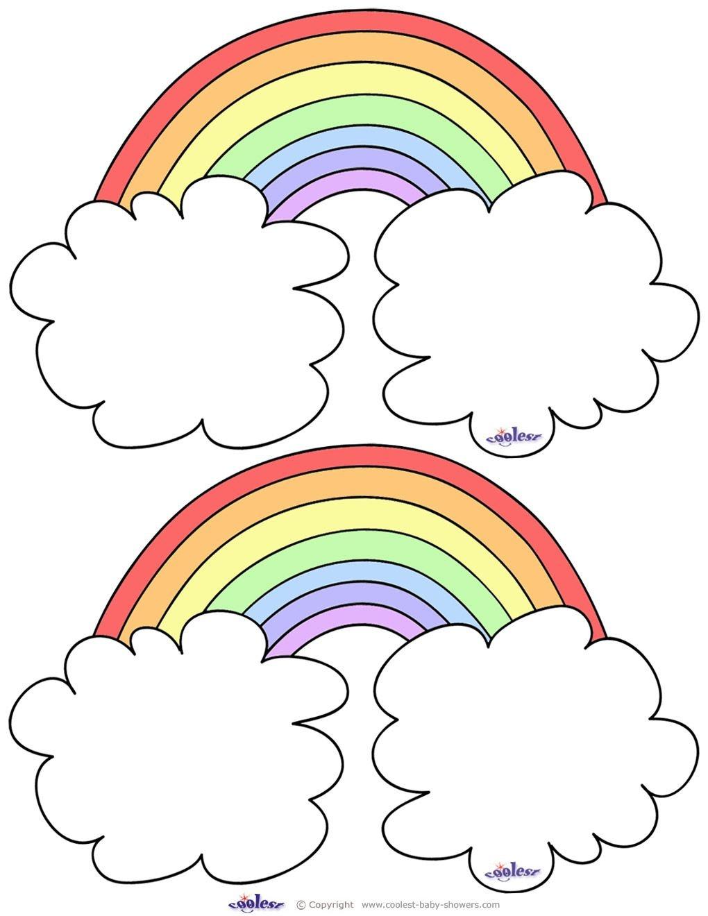 Blank Printable Rainbow Thank You Cards Coolest Free Printables - Free Rainbow Printables