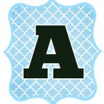 Blue And Black Printable Letters For Banners | Letters | Printable   Free Printable Alphabet Letters For Banners