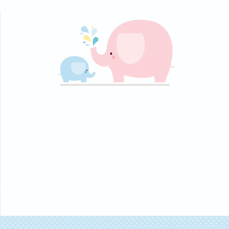 Blue Baby Elephant - Free Printable Baby Shower Invitation Template - Free Baby Elephant Printables