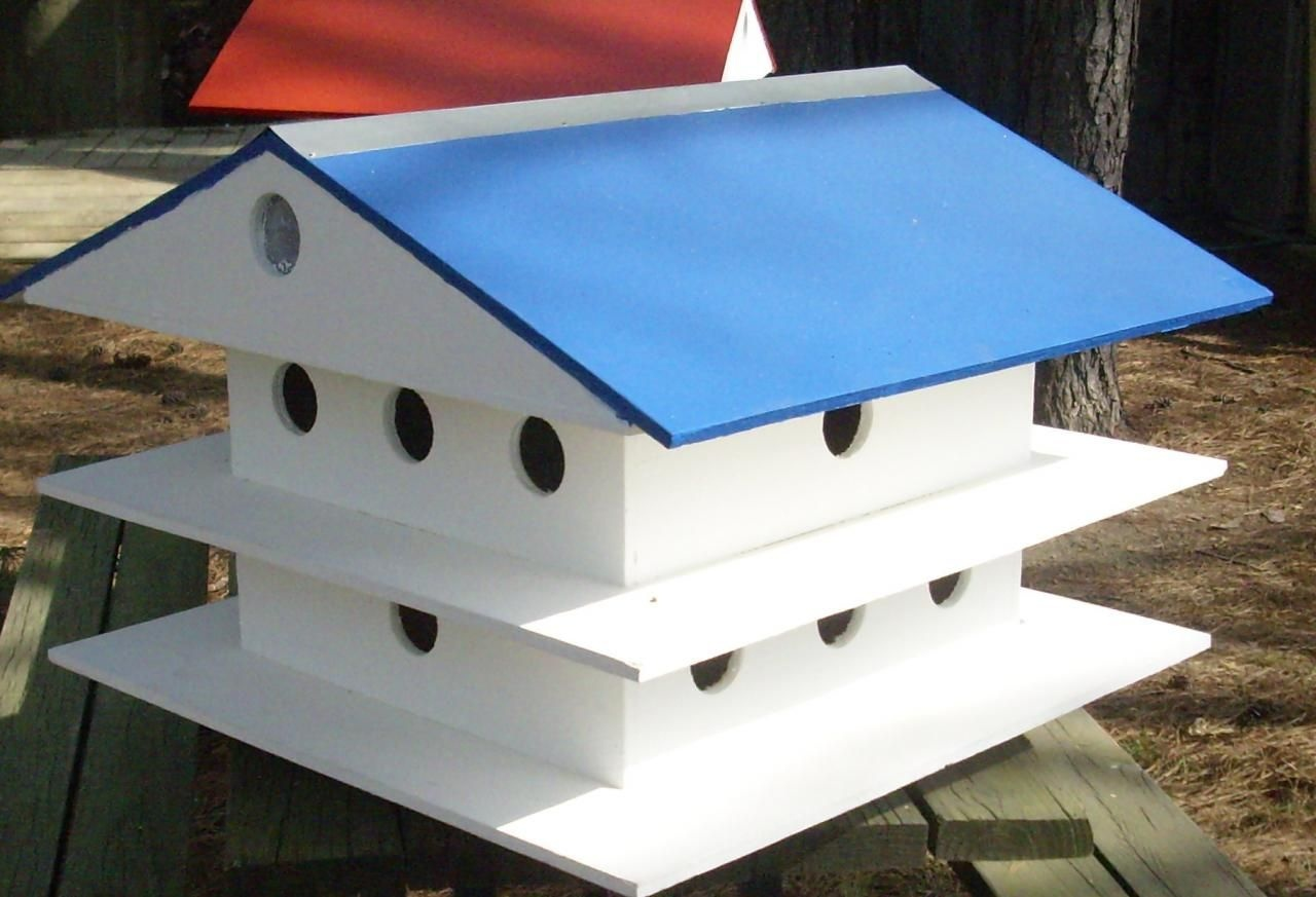 Blue Martin Bird Houses | Big Bird Cages | Martin Bird House, Purple - Free Printable Purple Martin House Plans