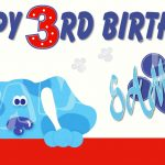 Blues Clues Personalized Birthday Banner With Free Printable | Etsy   Free Printable Birthday Banners Personalized