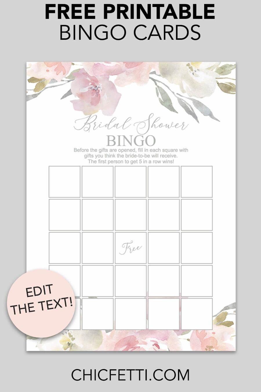 Blush Floral Printable Bridal Shower Bingo | Free Wedding Printables - Free Printable Bridal Bingo Sheets