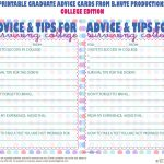 Bnute Productions: Free Printable Graduate Advice Cards   College   Free Printable Graduation Advice Cards