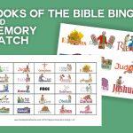 Books Of The Bible Bingo 48 Printable Cards & Memory Match | Etsy   Bible Bingo Free Printables