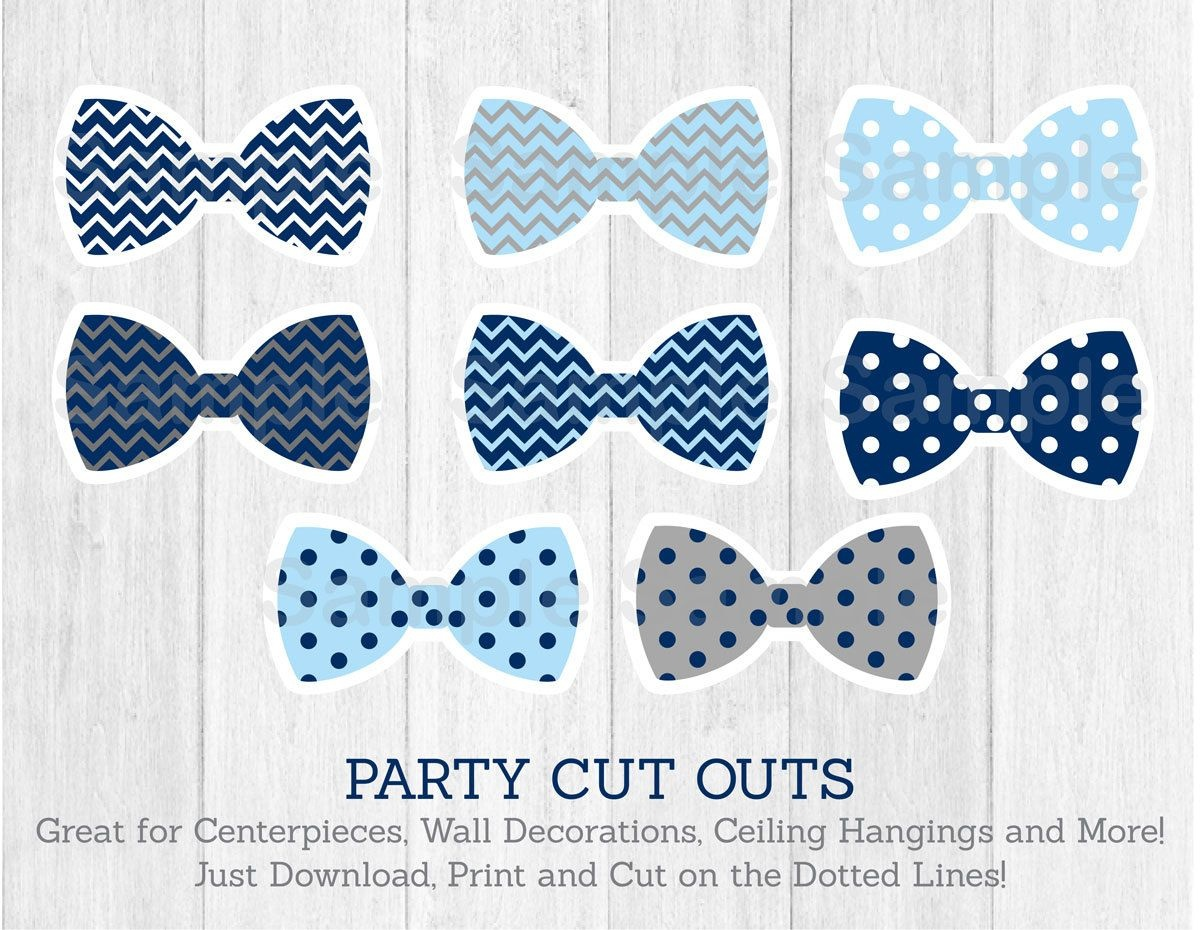 Bow Tie Cut Outs / Little Man Baby Shower / Chevron Bow Tie / Polka - Free Bow Tie Template Printable