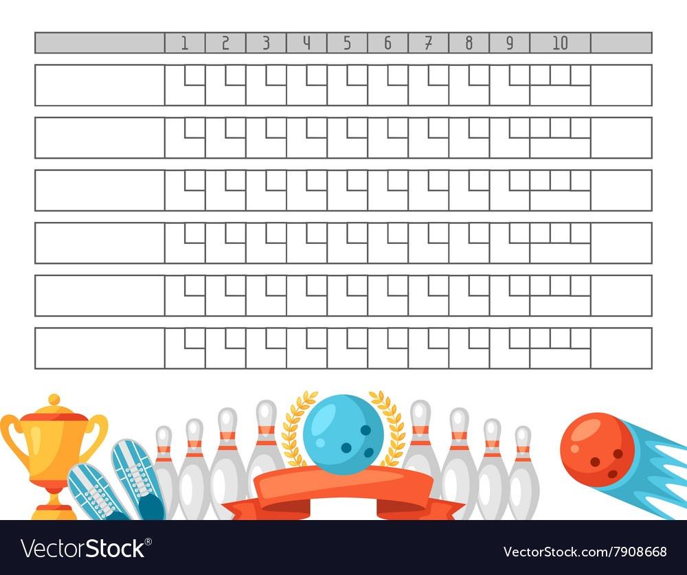 Bowling, Score & Scoreboard Vector Images (31) - Free Printable Bowling Score Sheets