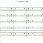 Bowling Score Sheet   Free Printable Bowling Score Sheets