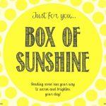 Box Of Sunshine & Free Digital Download | School | Box Of Sunshine   Box Of Sunshine Free Printable
