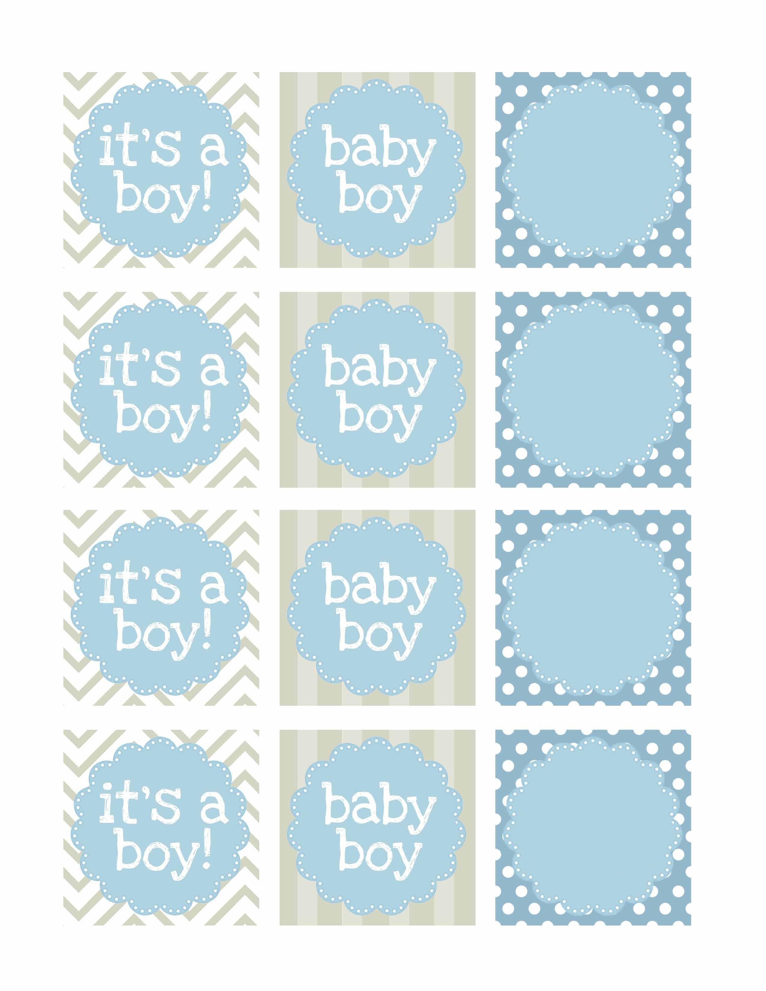Boy Baby Shower Free Printables | Unbedingt Mal Ausprobieren | Free - Free Baby Shower Printables Decorations