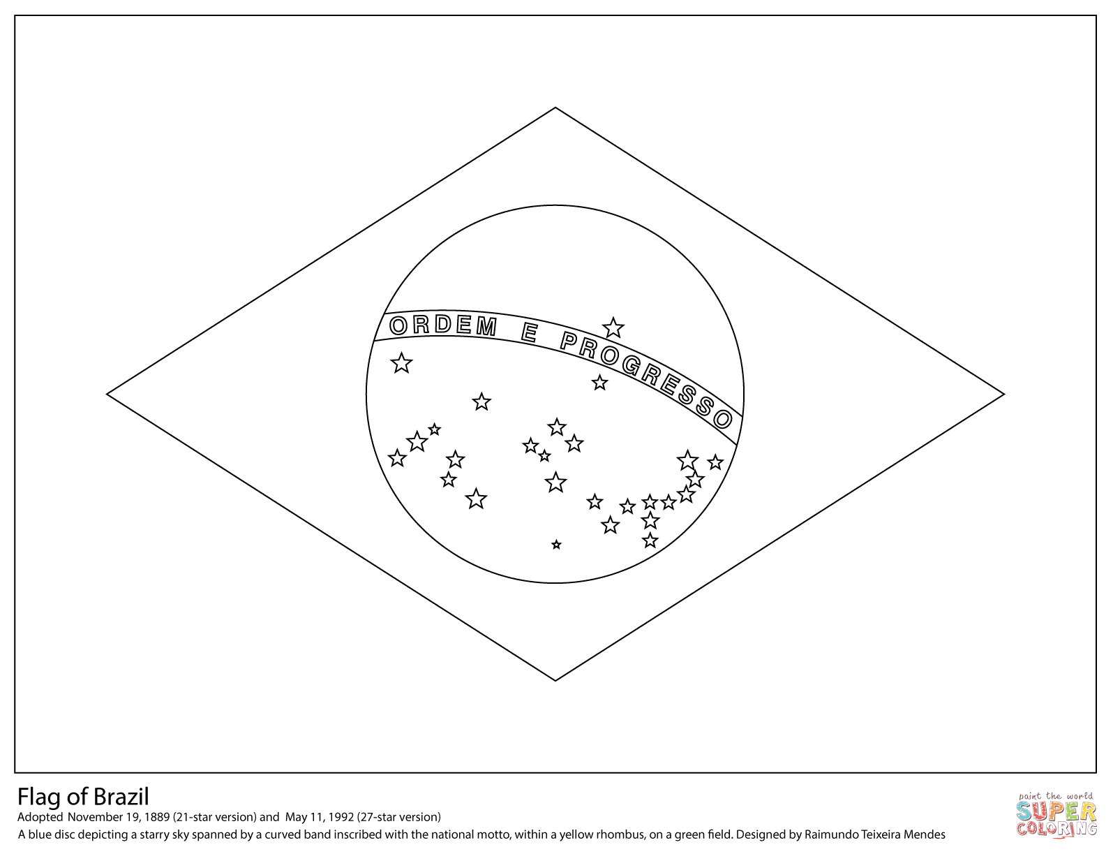 Brazil Coloring Pages | Free Coloring Pages - Brazil Worksheets Free Printables