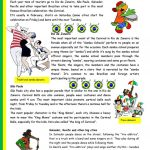 Brazilian Carnival – Text, Pictures, Comprehension, Links To Videos   Brazil Worksheets Free Printables