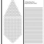Brick Stitch Bead Patterns Journal: 12 Bead Base Row Blank Round   Free Printable Native American Beading Patterns