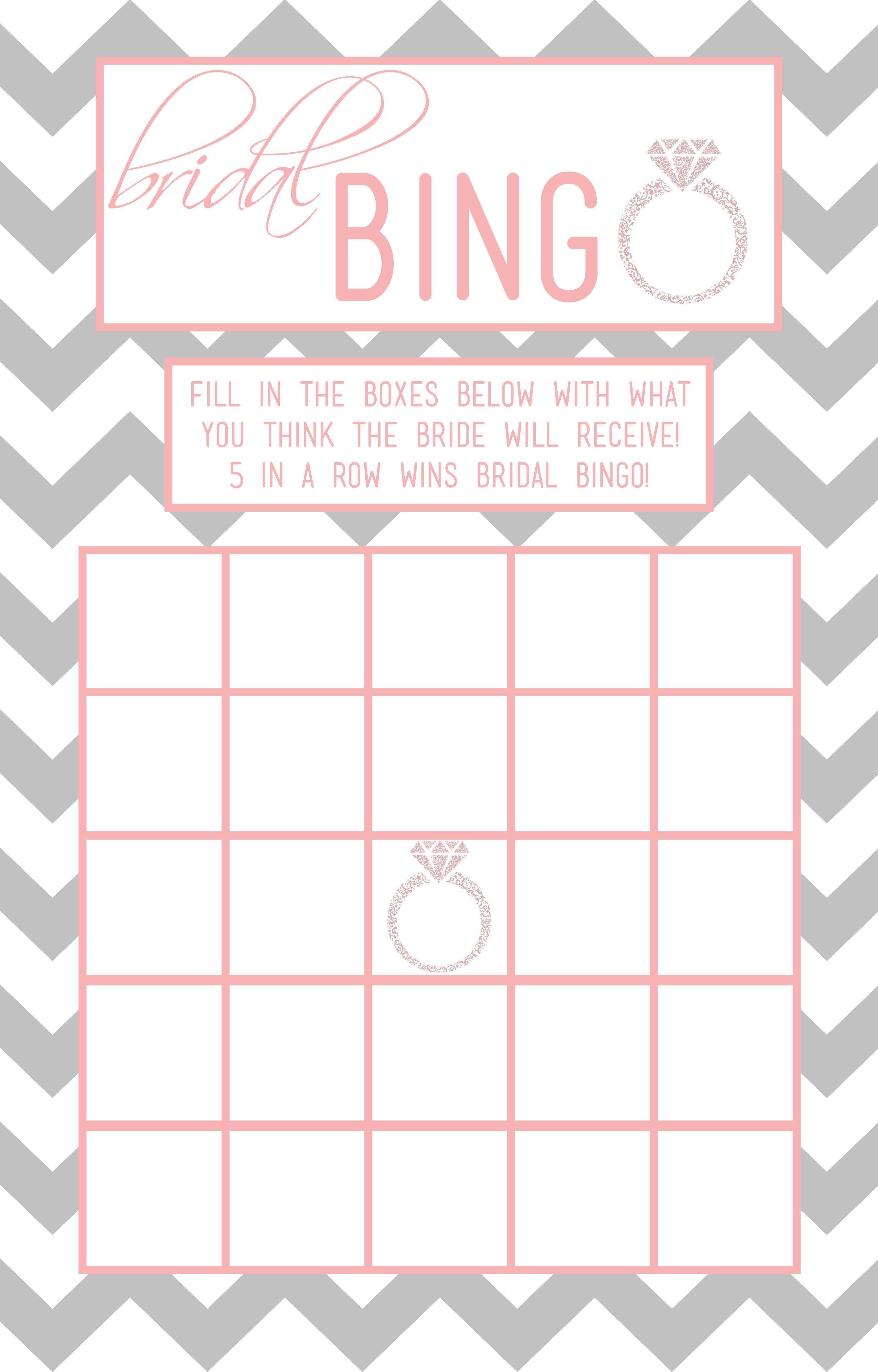 Bridal Bingo Template – 28 Images – Free Printable Bridal Shower - Free Printable Bridal Bingo Sheets