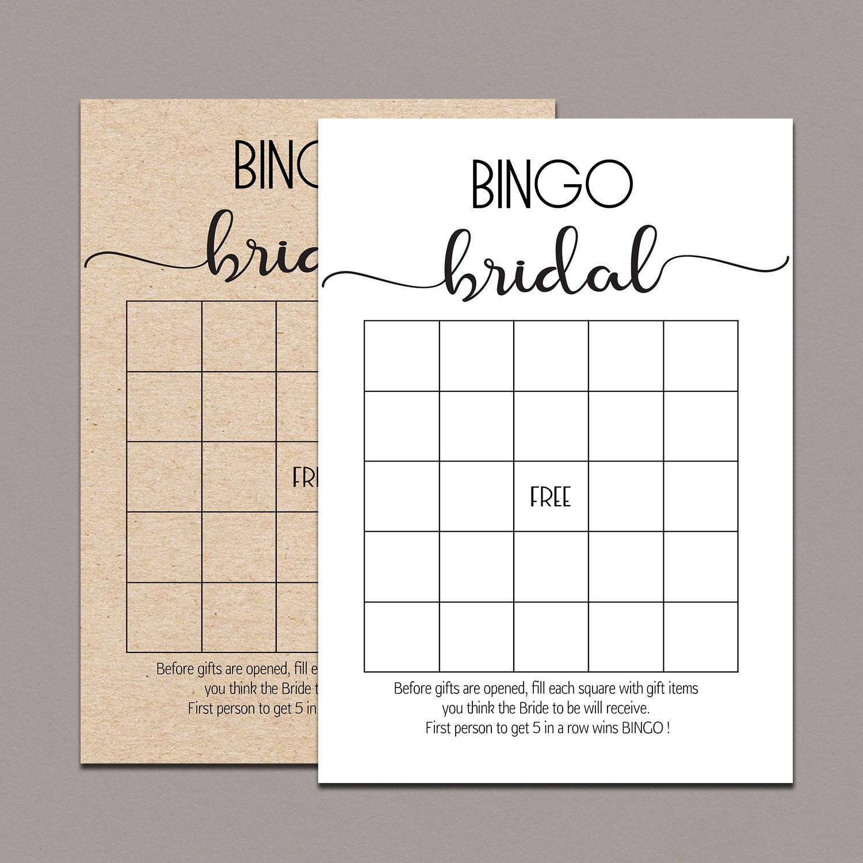 Bridal Shower Bingo Cards Bridal Bingo Cards Bridal Bingo | Etsy - Free Printable Bridal Bingo Sheets