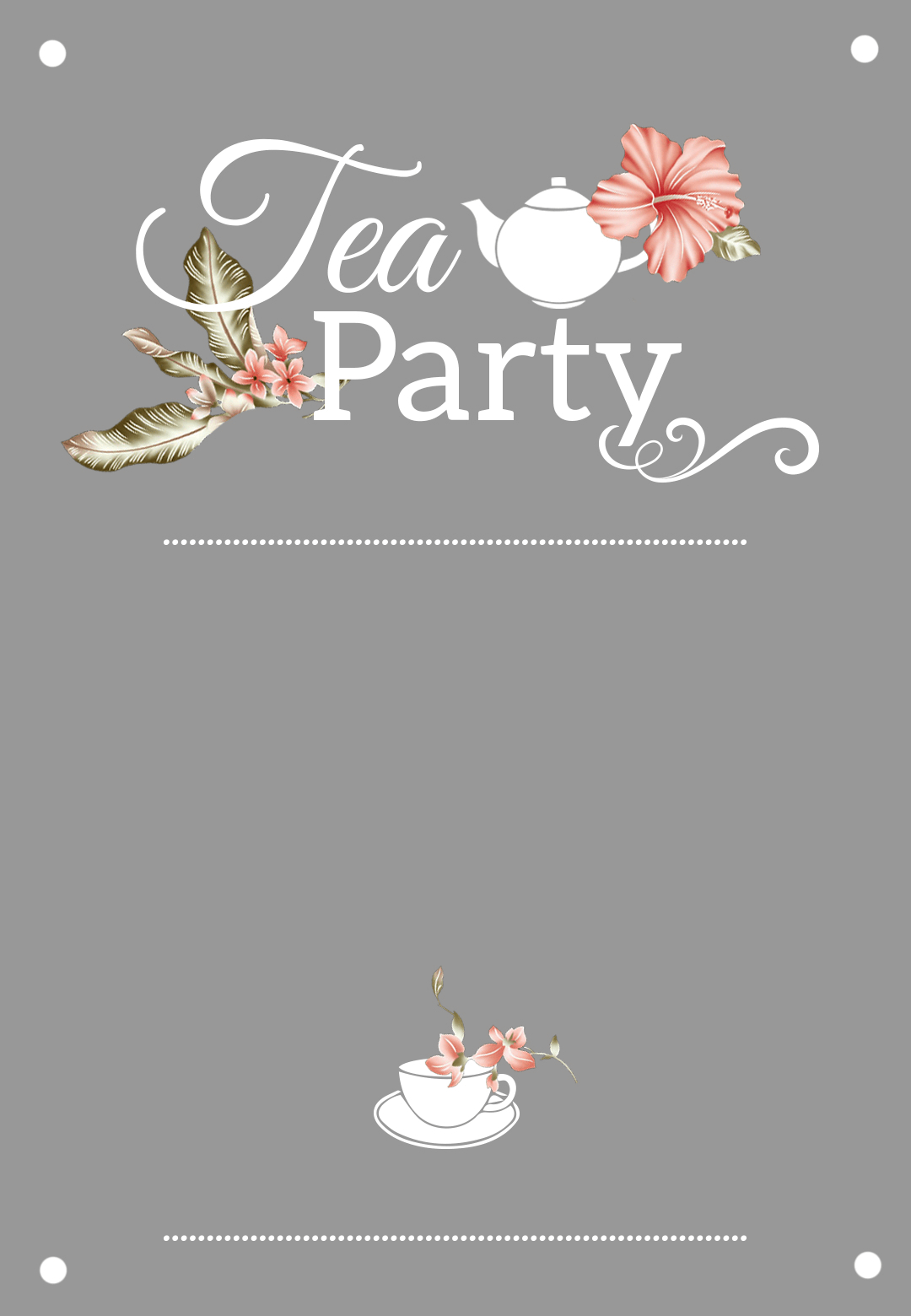 Bridal Shower Tea Party - Free Printable Bridal Shower Invitation - Free Printable Kitchen Tea Invitation Templates