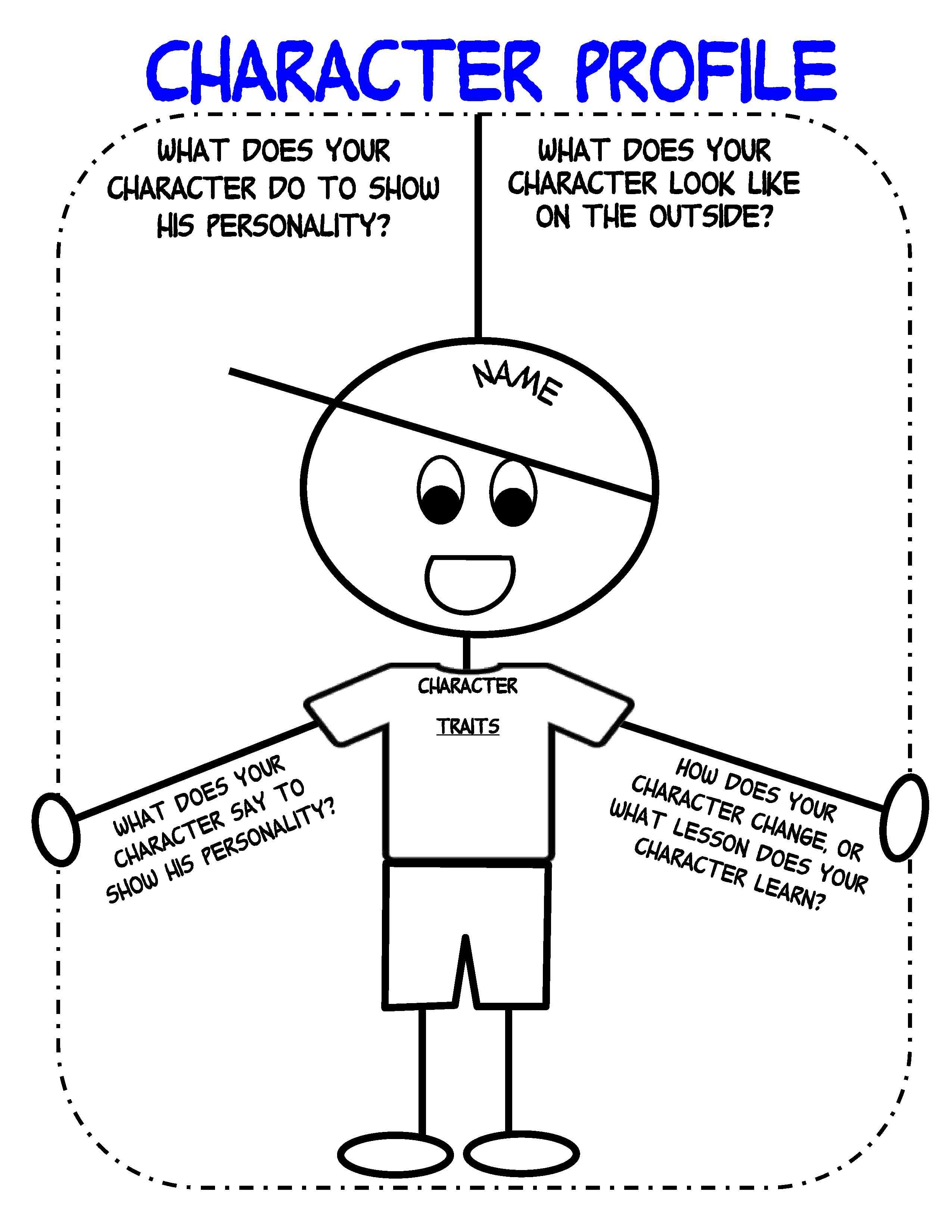 Bringing Characters To Life In Writer's Workshop   Scholastic - Free Printable Character Traits Graphic Organizer