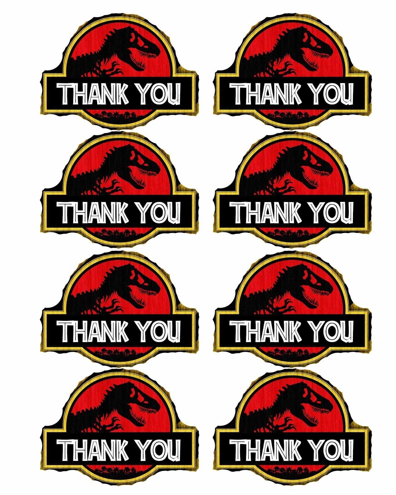 Bringing Home Ezra: Free Dinosaur (Jurrasic Park) Party Printables - Jurassic World Free Printables