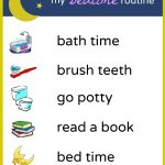 Brush, Book, Bed: A Printable Bedtime Routine Chart For Kids   Free Printable Bedtime Routine Chart