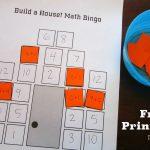 Build A House Math Bingo – Free Printable – Teach Beside Me   Math Bingo Free Printable