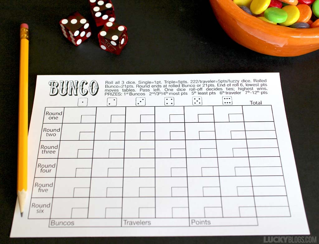 Bunco Score Sheet Free Printable - - Free Printable Bunco Game Sheets