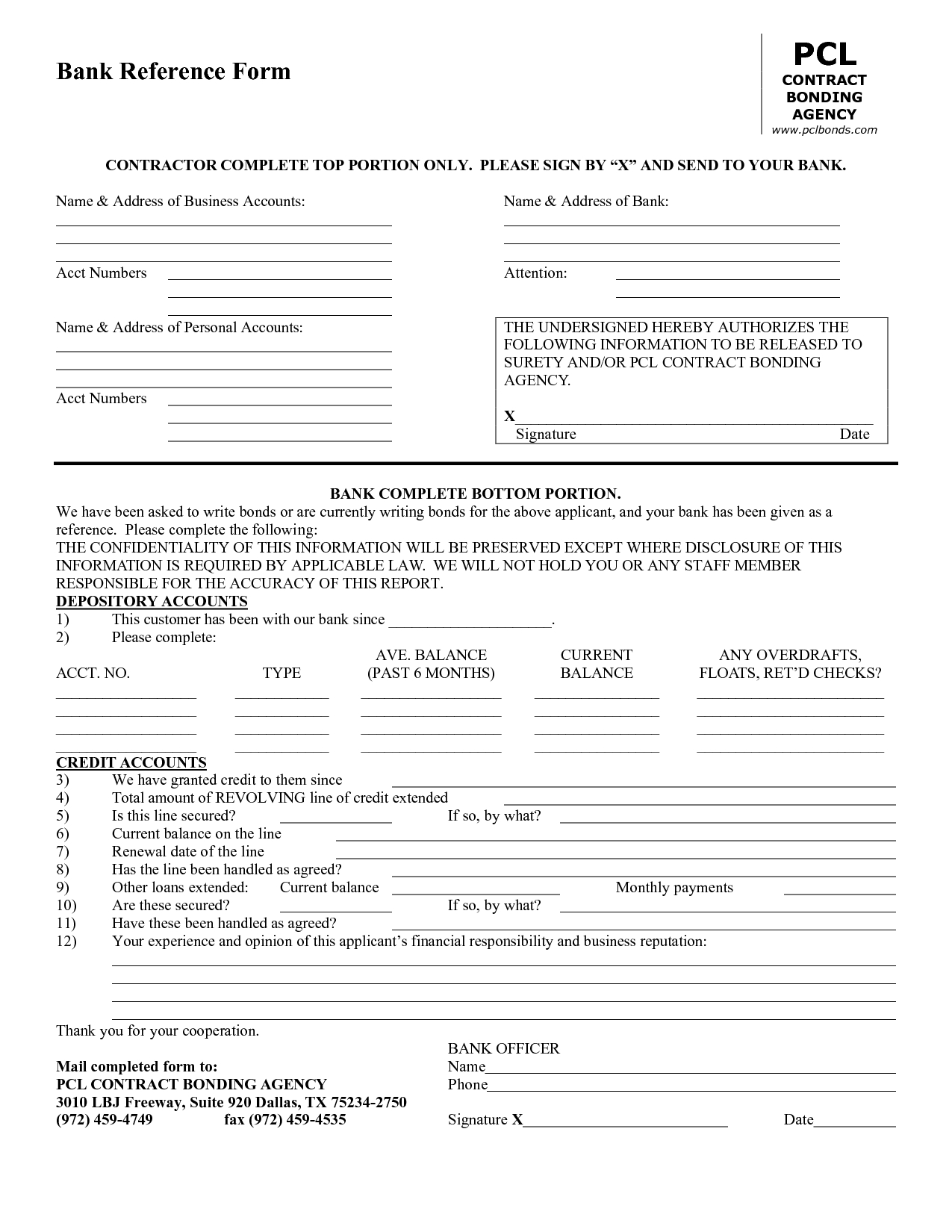 Business Credit Reference Form Template | Bagnas - Business Credit - Free Printable Business Credit Application Form