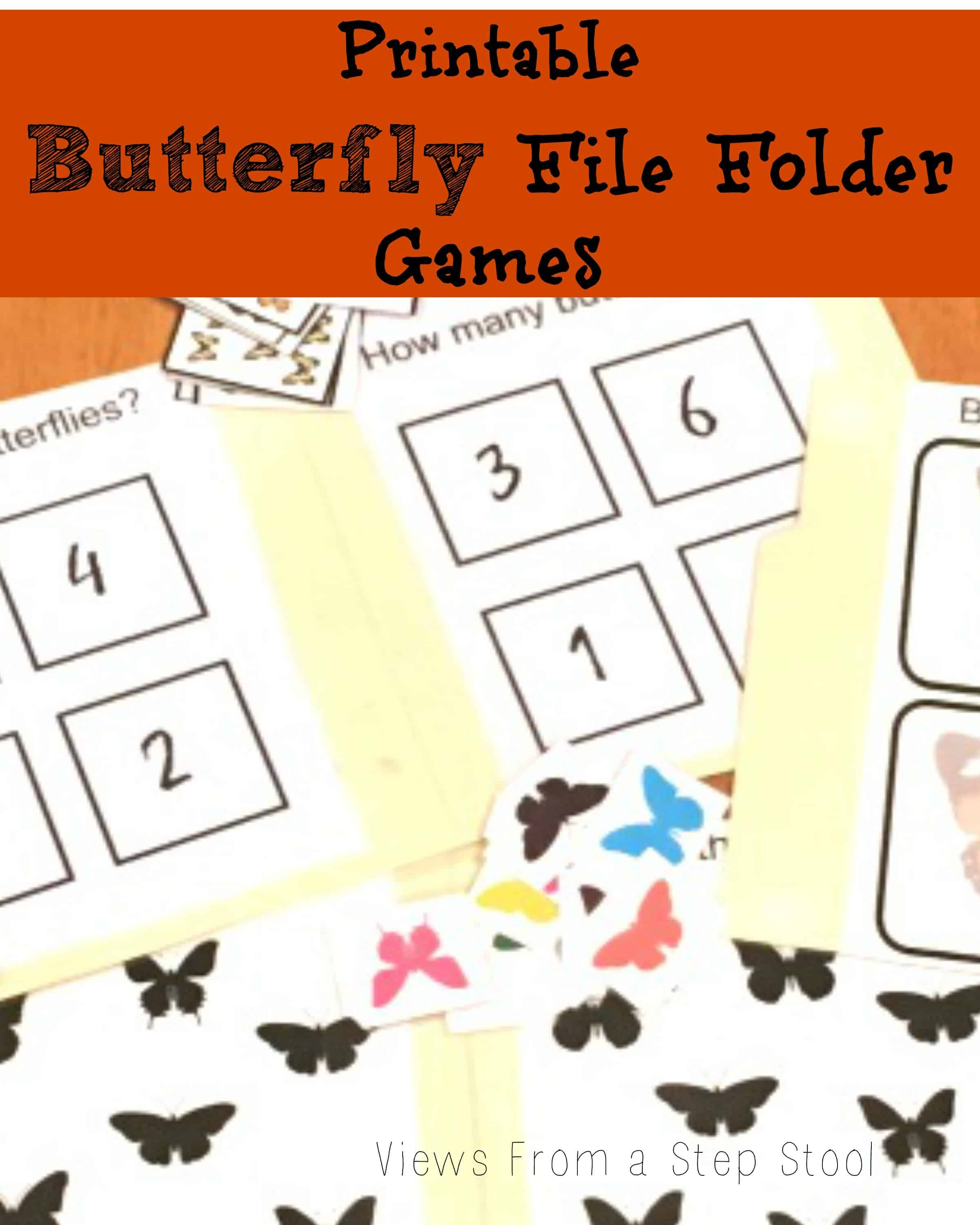 Butterfly File Folder Games: Free Printable! - Views From A Step Stool - Free Printable Preschool Folder Games