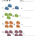 Butterfly Math Adding Worksheet   Free Kindergarten Learning   Free Printable Butterfly Worksheets
