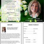 Butterfly Memorial Program | Memorials | Funeral Cards, Memorial   Free Printable Memorial Card Template
