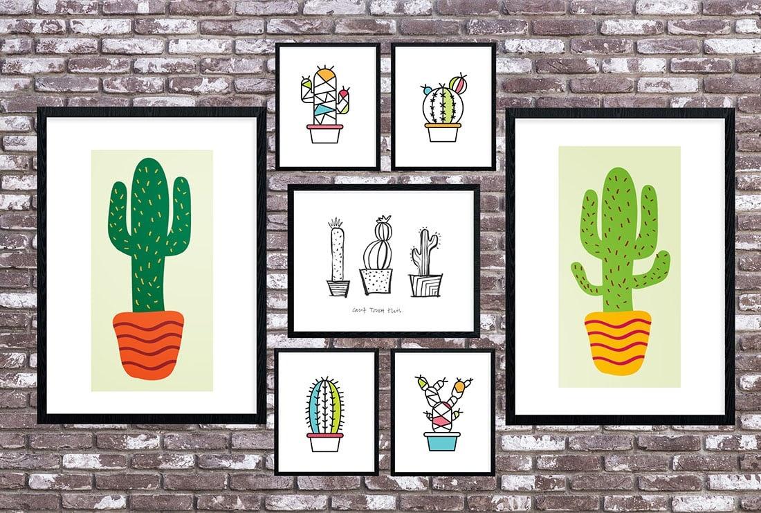 Cactus Art Roundup: 55 Awesome Free Printables • Little Gold Pixel - Free Cactus Printable
