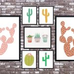 Cactus Art Roundup: 55 Awesome Free Printables • Little Gold Pixel   Free Printable Cactus