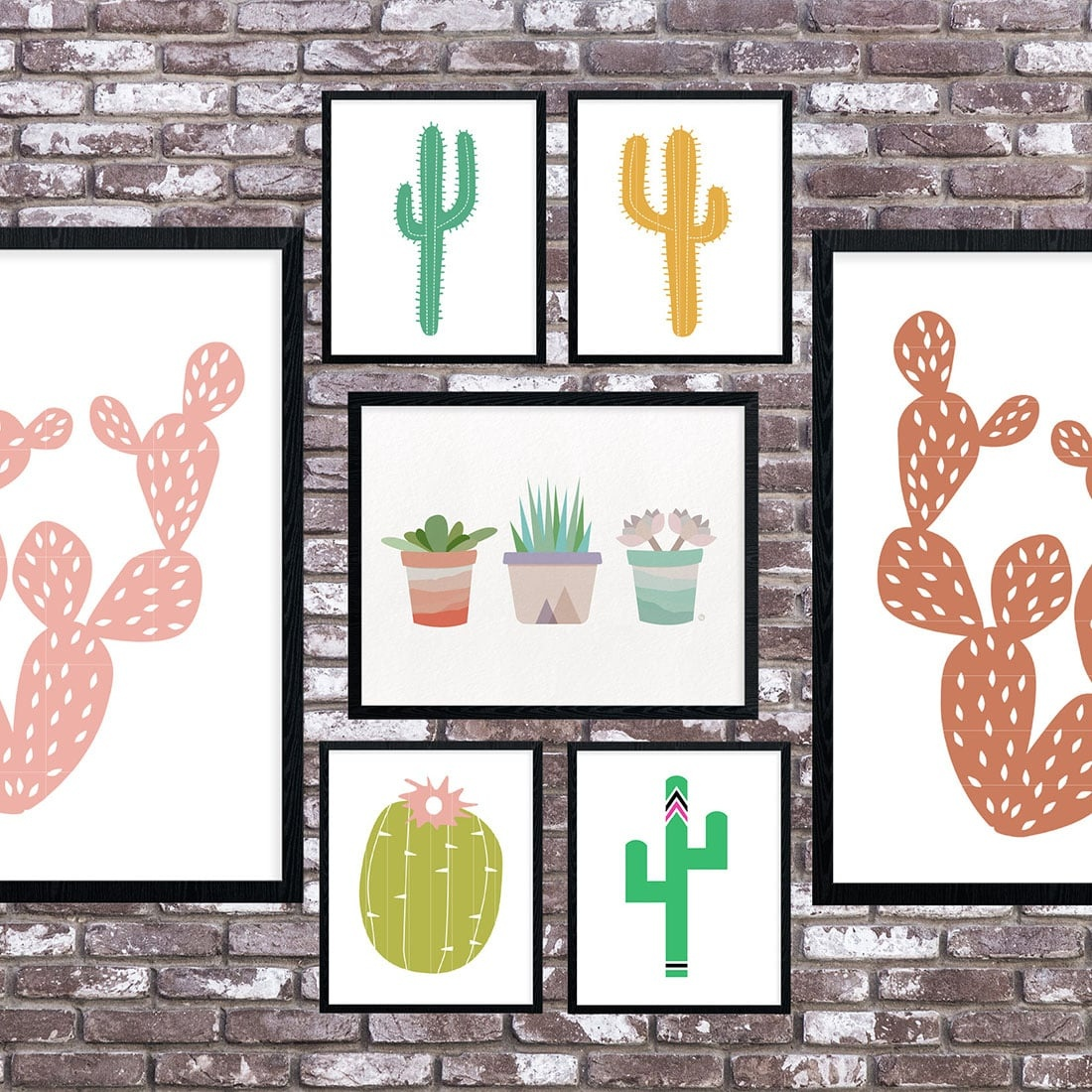 Cactus Art Roundup: 55 Awesome Free Printables • Little Gold Pixel - Free Printable Cactus